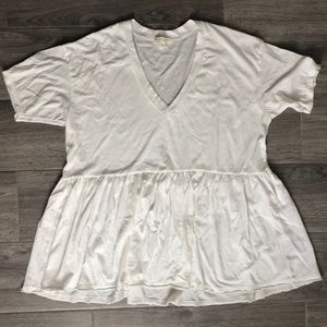 UO White Truly Madly Deeply Peplum Top